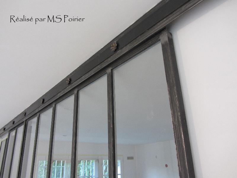 Cloison verre style atelier d 39 artiste finition ferronnerie 1900 for Comcloison verre atelier