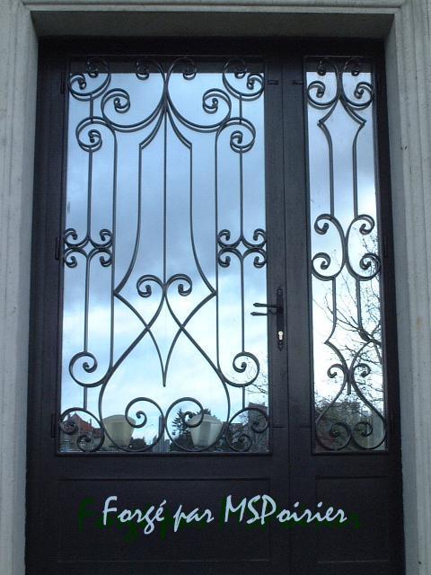 Porte d 39 entr e fer forg e mod le marie antoinette la for Modele porte maison fer forge