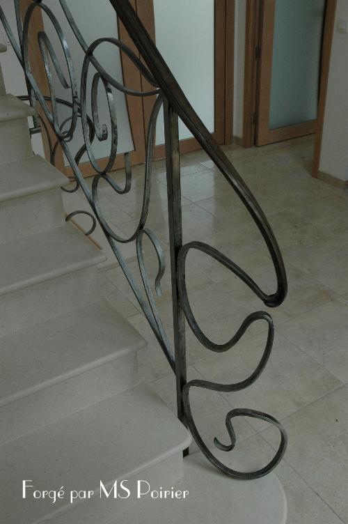 Les Rampes D 39 Escalier Style Art Nouveau Customis Es Par Stephan Poirier Le Ferronnier Pr S De Paris