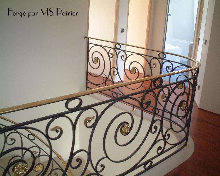 Le fer forg style louis xvi par mspoirier Garde corps en fer forge pour escalier