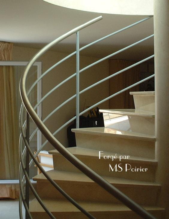rampe d 39 escalier bateau ferronnerie design. Black Bedroom Furniture Sets. Home Design Ideas