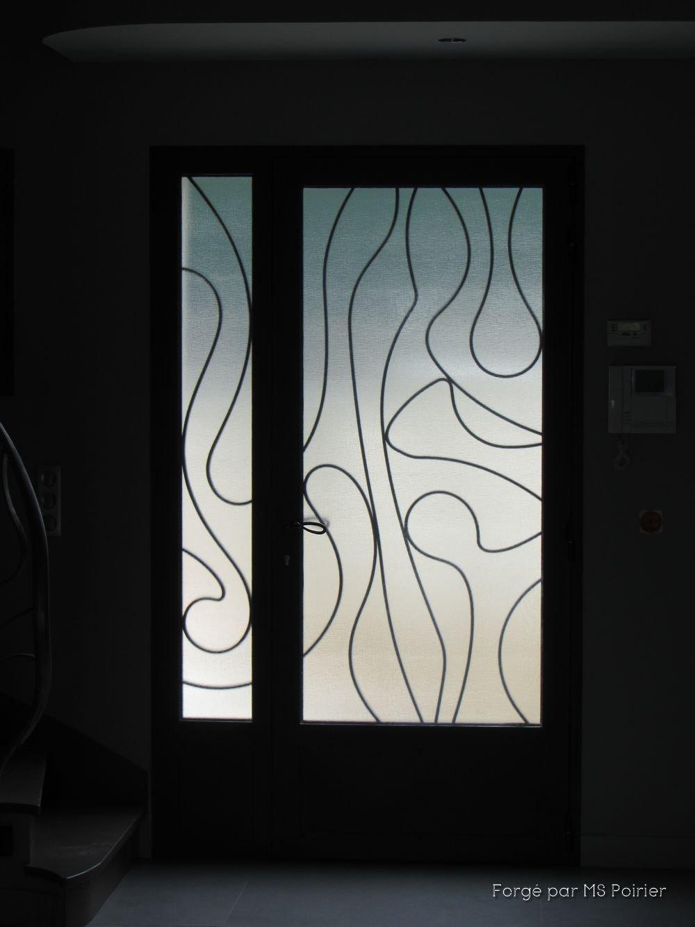 Porte D Entrée Moderne porte d'entrée en fer forgé modèle surrealiste