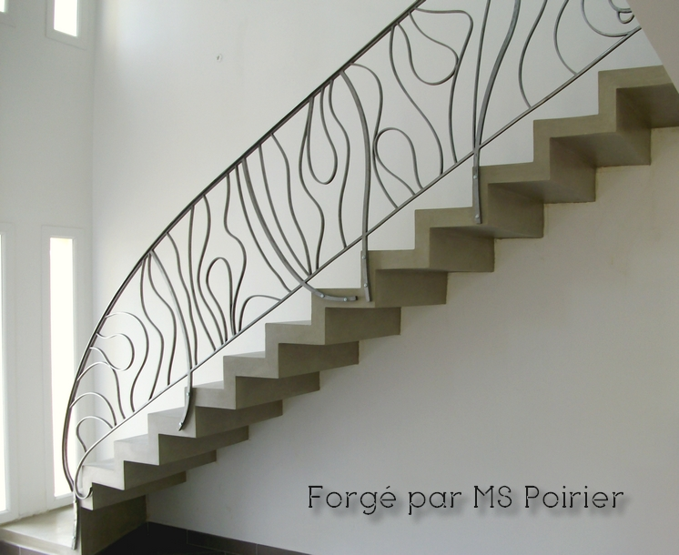 rampe d 39 escalier en fer forg. Black Bedroom Furniture Sets. Home Design Ideas